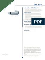 Sony Vpl Cs7 Specs