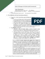 1 Definition Et Emergence de La Justice Penale Internationale