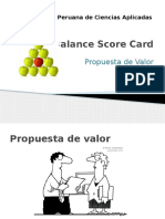 BSC Propuesta de Valor