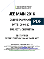 Jee Main 2016 Online CBT Solution Chemistry 09-04-2016 v1