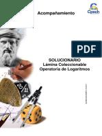Solucionario Lámina Coleccionable Operatoria de Logaritmos 2016