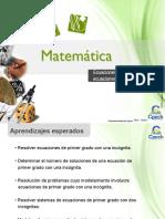 Clase 10 Ecuaciones y Sistemas de Ecuaciones de Primer Grado CAC 2016