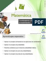 Clase 28 Combinatoria y Tipos de Probabilidades 2016