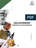 Solucionario Cuadernillo Ángulos en La Circunferencia 2016