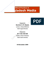 Ethical Practices in Bangladeshi Media
