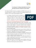 Especificaciones Generales y Normas Para Presentación de Articulos Como Resultado de Los Proyectos de Grado[1]
