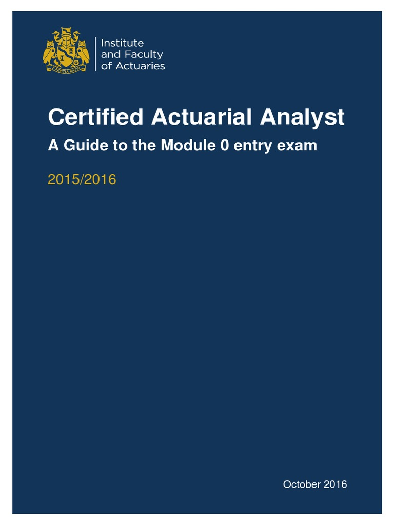 Iandf Caa Guide M0 201610 Actuary Payments
