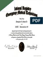 national registry certificate