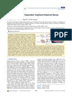 Graphene Thickness Dependent Graphene Enhanced Raman