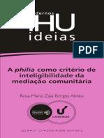A Philía Como Criterio de Inteligibilidade Da Mediacao Comunitaria