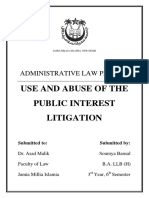 Assignment- Use and Abuse of Pil