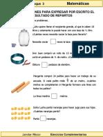3er Grado - Matemáticas - Uso de fracciones para expresar repartos.pdf