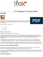The How and Why of Argentina's Currency Black Market