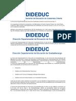 Direcciondes departamentales Guatemala