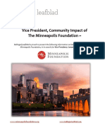 Executive Position Profile - The Minneapolis Foundation - Vice President, Community Impact