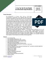 Accelerometer KX122-1037 Specifications Rev 4.0
