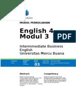 Modul 3 English 4 2016-2017