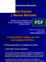POWER POINT HISTORIA DE LA EDUCACION EN CHILE - FIN AL LUCRO - MAYO 2008