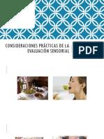Consideraciones Prácticas de La Evaluación Sensorial (1)