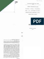 FERNÁNDEZ RETAMAR - Para Una Teoría de La Literatura Hispanoamericana