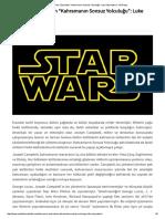 """Star Wars Üzerinden """"Kahramanın Sonsuz Yolculuğu""""_ Luke Skywalker _ YM Dergi"""