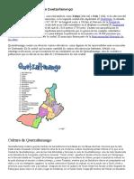 Definición Geográfica de Quetzaltenango