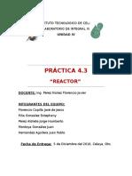 Unidad IV Reactor