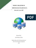 5625 Ms Access - Modul Praktikum PBD