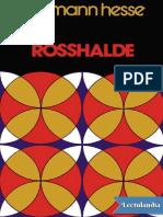 Rosshalde de Hermann Hesse en PDF