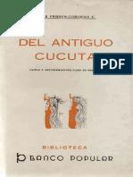 Miguel Febres Cordero - Del Antiguo Cúcuta