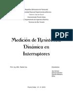 Informe - Alta Tension - Prueba de Resistencia Dinamica en Interruptores