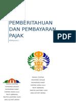 Kelompok 3 Surat Pemberitahuan Dan Pembayaran Pajak