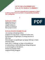 Pangkat Pagdiriwang Sa Karangalan Ng Birheng Maria-sacramentary-port-rev