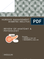 Nursing Management of Diabetes