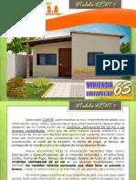 (Tl-m) Especificaciones y Costos de Vivienda Unifamiliar Modelo Kem-7 de 63 m2 (Enero 2014) Otros Estados