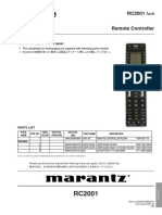 Marantz RC 2001 Service Manual