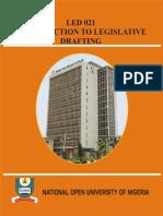 Introduction to Legislative Drafting
