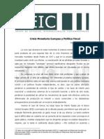 Crisis Monetaria Europea y Política Fiscal