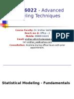 AMT Statistical Modeling 1