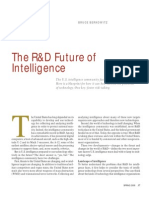 The R&D Future of Intelligence