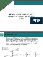 Penjadwalan Proyek-Metode Precedence Diagram Method (PDM)