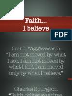 Doctrine Part 1—Faith