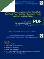 Webinar Presentation PMP - Time Management