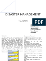 Disaster management for Tsunami