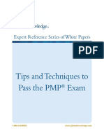 WP PM Tips and Techniques to Pass the PMP Exam