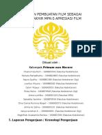 Laporan Pembuatan Film MPKS Apresiasi Film
