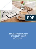 Ripples Advisory Pvt.Ltd. Daily Equity Report 9th Feb 2017