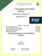 Practica 5 Laboratorio Integral II