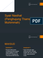 6. Puisi Tradisional - Syair Nasihat(Penghujung Tharamat Al-muhimmah)