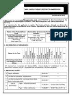Notifcation TNPSC Hostel Superintendent Cum Physical Training Officer Posts1